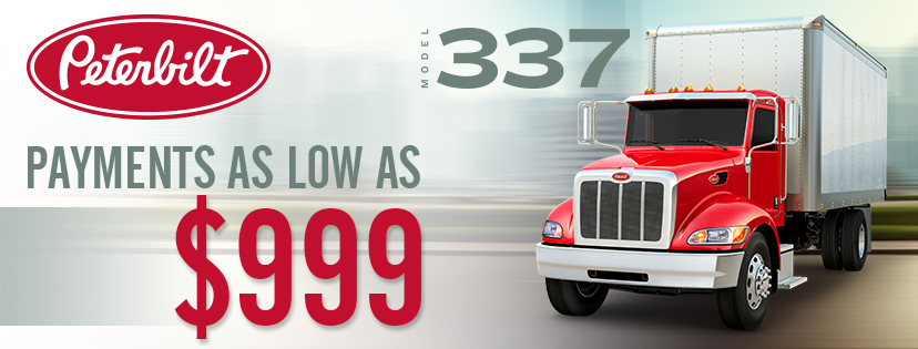 GET INTO YOUR NEXT PETERBILT 337 WITH PAYMENTS AS LOW AS $999!